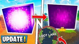 Fortnite cube goes into loot lake