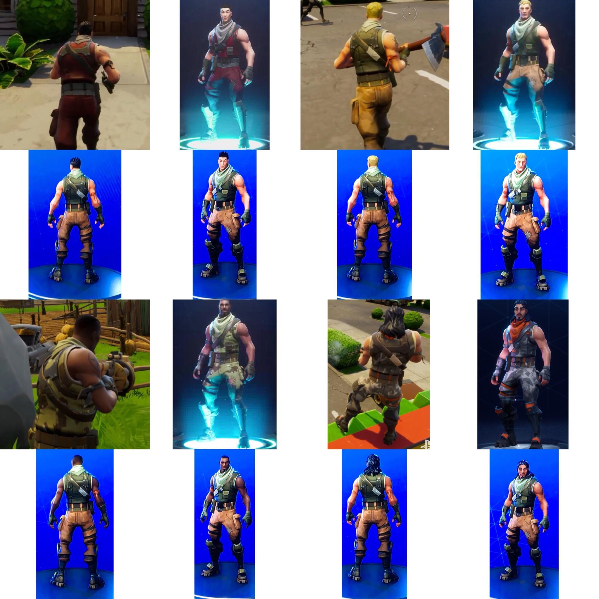 Fortnite skin evolution