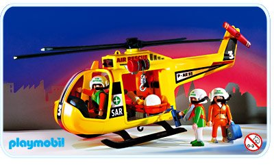 Playmobil helicoptere ambulance