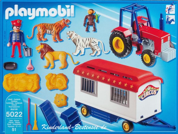 Playmobil cirque fauves