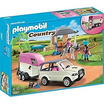 Playmobil - 5348 - country ecurie transportable