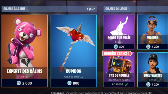 Fortnite boutique paris