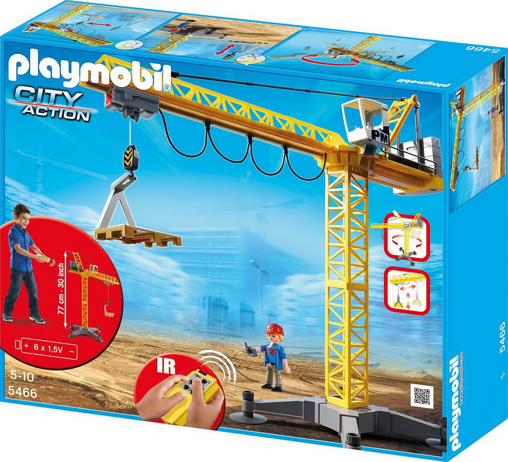 Playmobil 5466 city action large construction crane