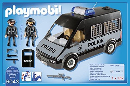 Camion playmobil police noir