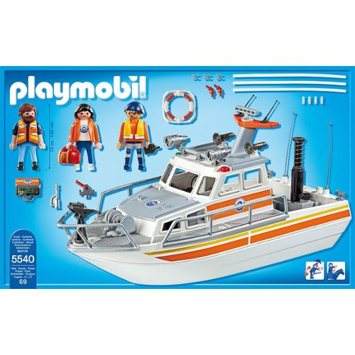 Playmobil city action bateau pompier