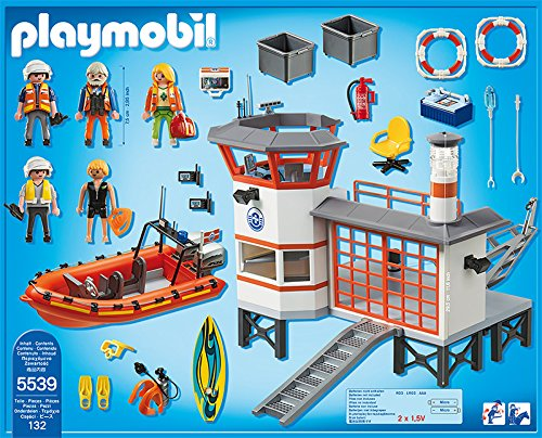 Playmobil 5539 city action coast guard station with lighthouse