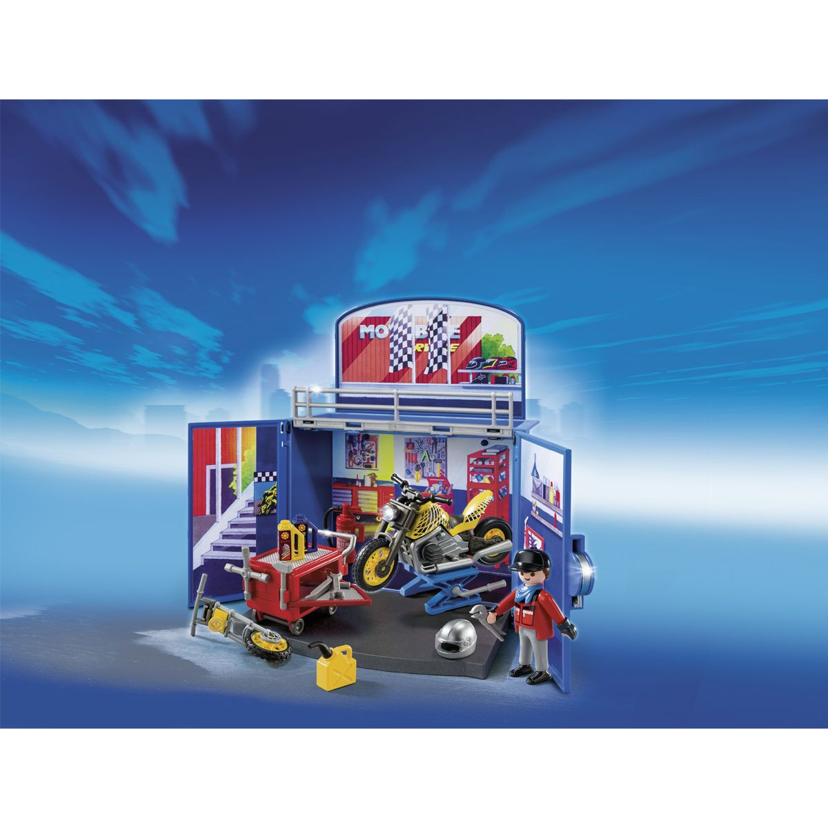 Playmobil city action 6157 coffre atelier de moto