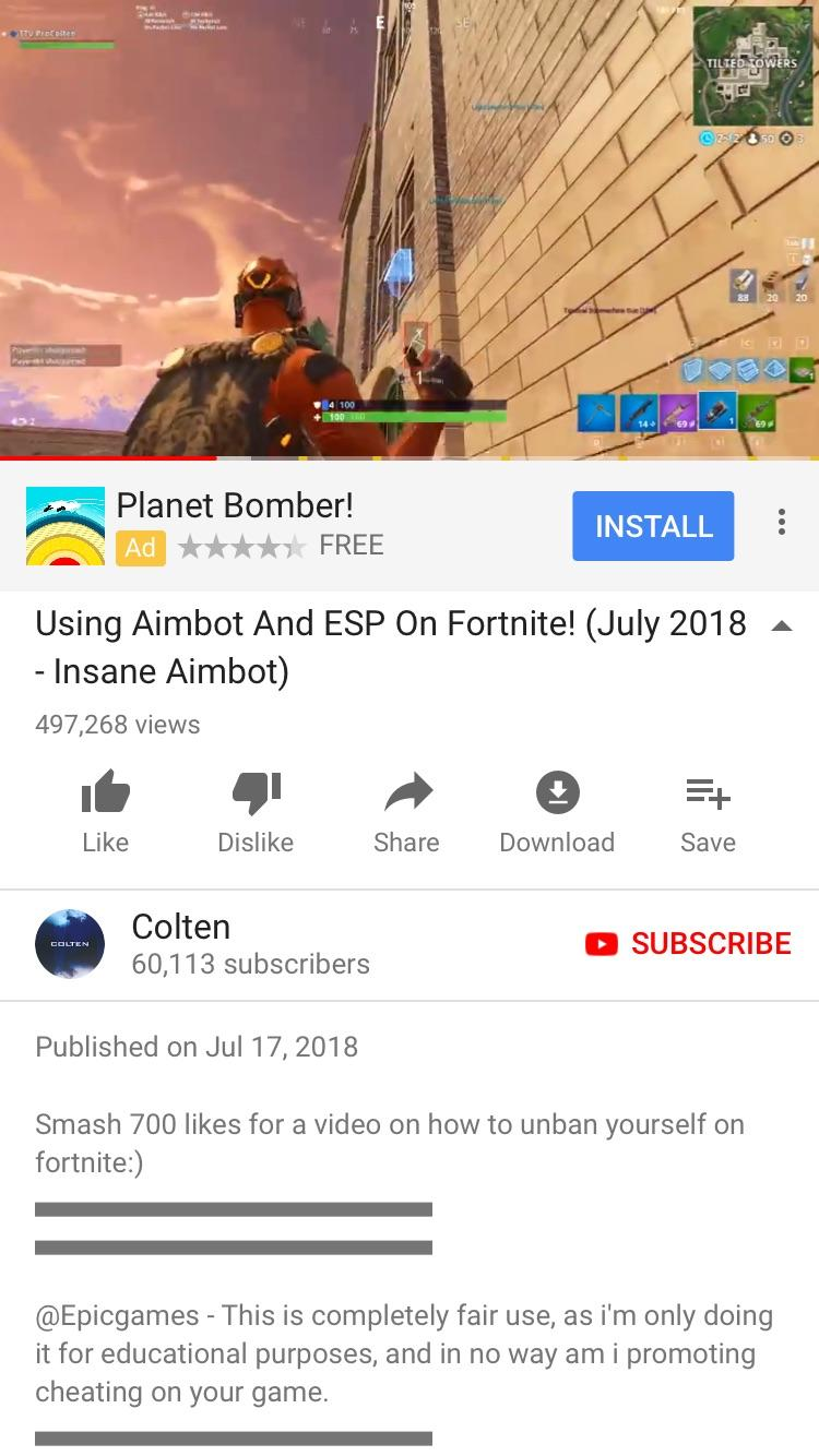 Fortnite aimbot hack download
