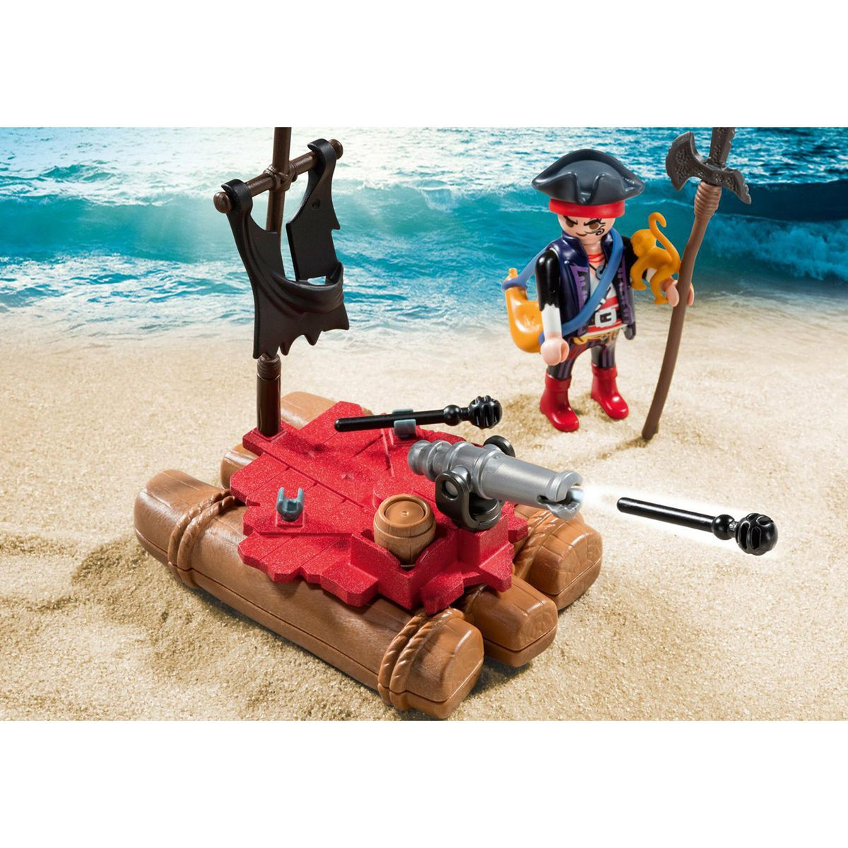 Playmobil radeau pirate