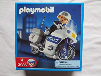 Playmobil police motorcycle