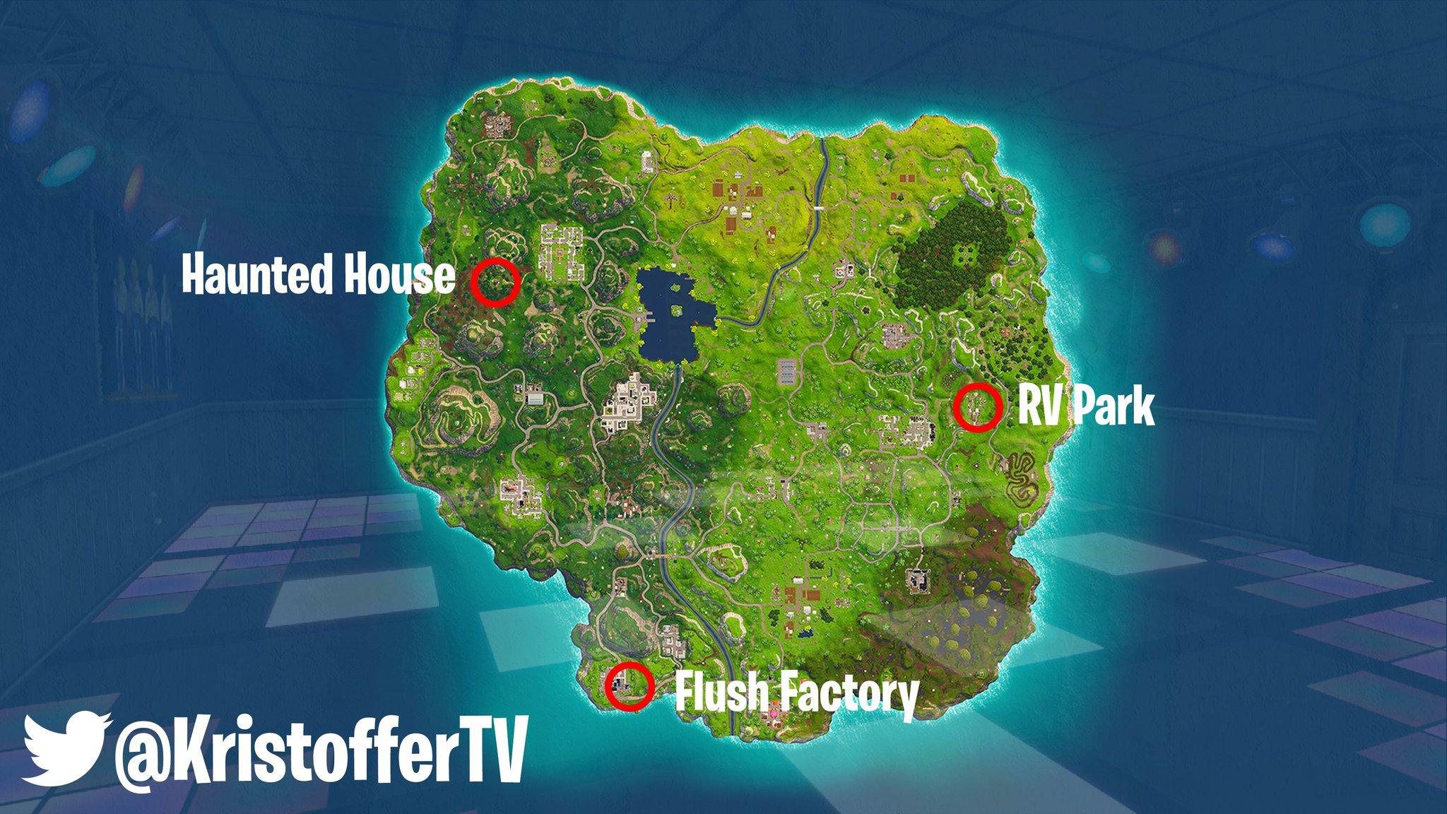Fortnite dance different locations