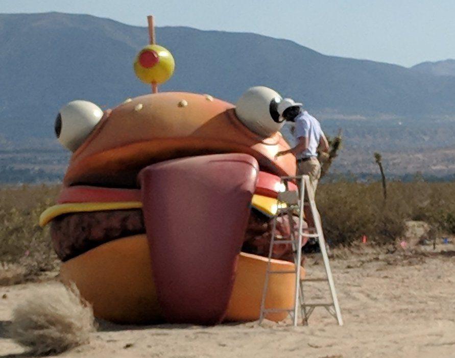 Fortnite burger in california desert