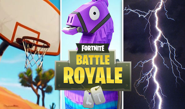 Fortnite basketball gameplay