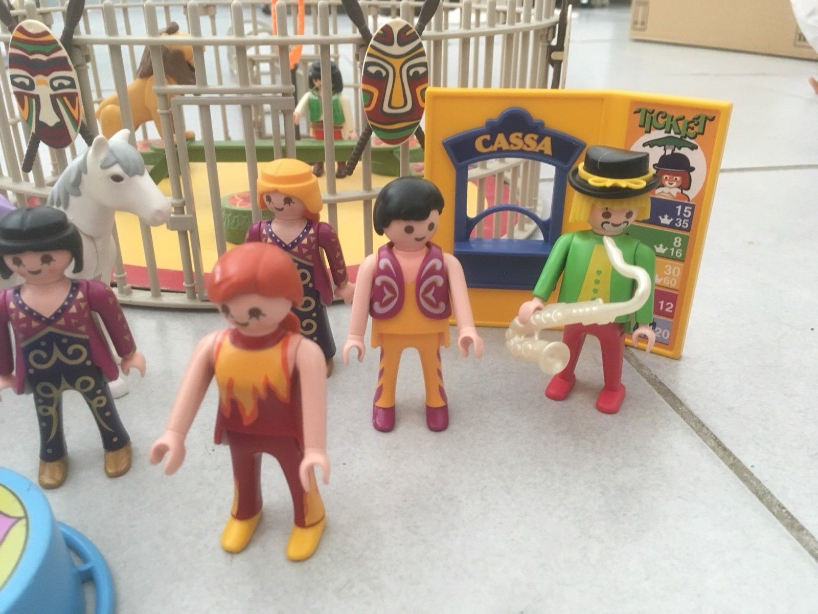 Playmobil cirque cage fauves
