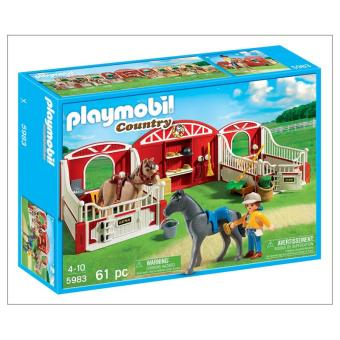 Playmobil box pour chevaux