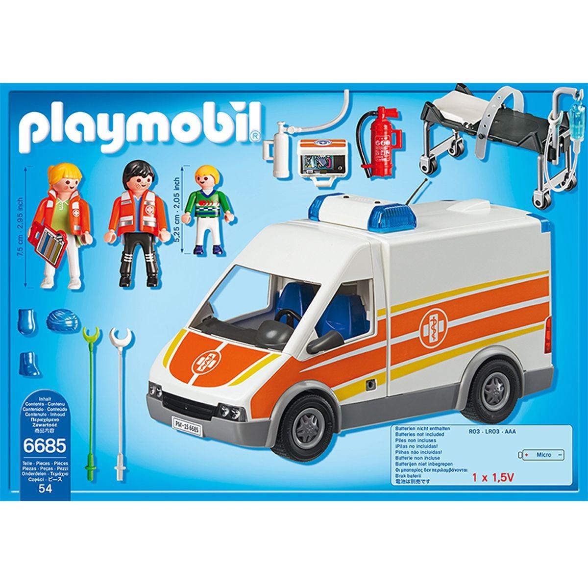 Ambulance playmobil 6685 notice