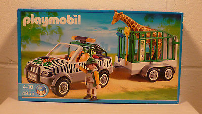 Playmobil zoo vehicle with trailer