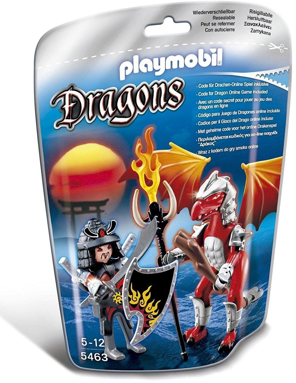 Playmobil 5463 - fire dragon mit kämpfer