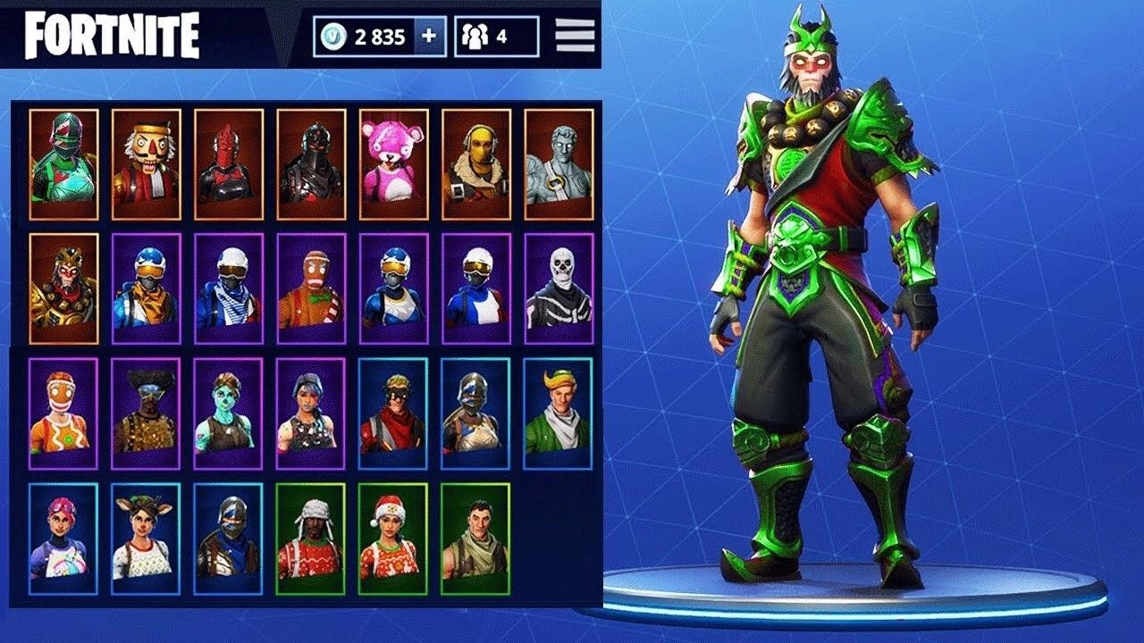 Fortnite all skins and pickaxes
