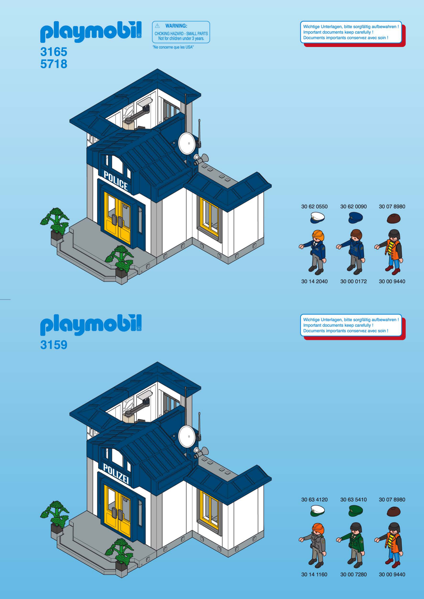 Playmobil police station instructions 6919