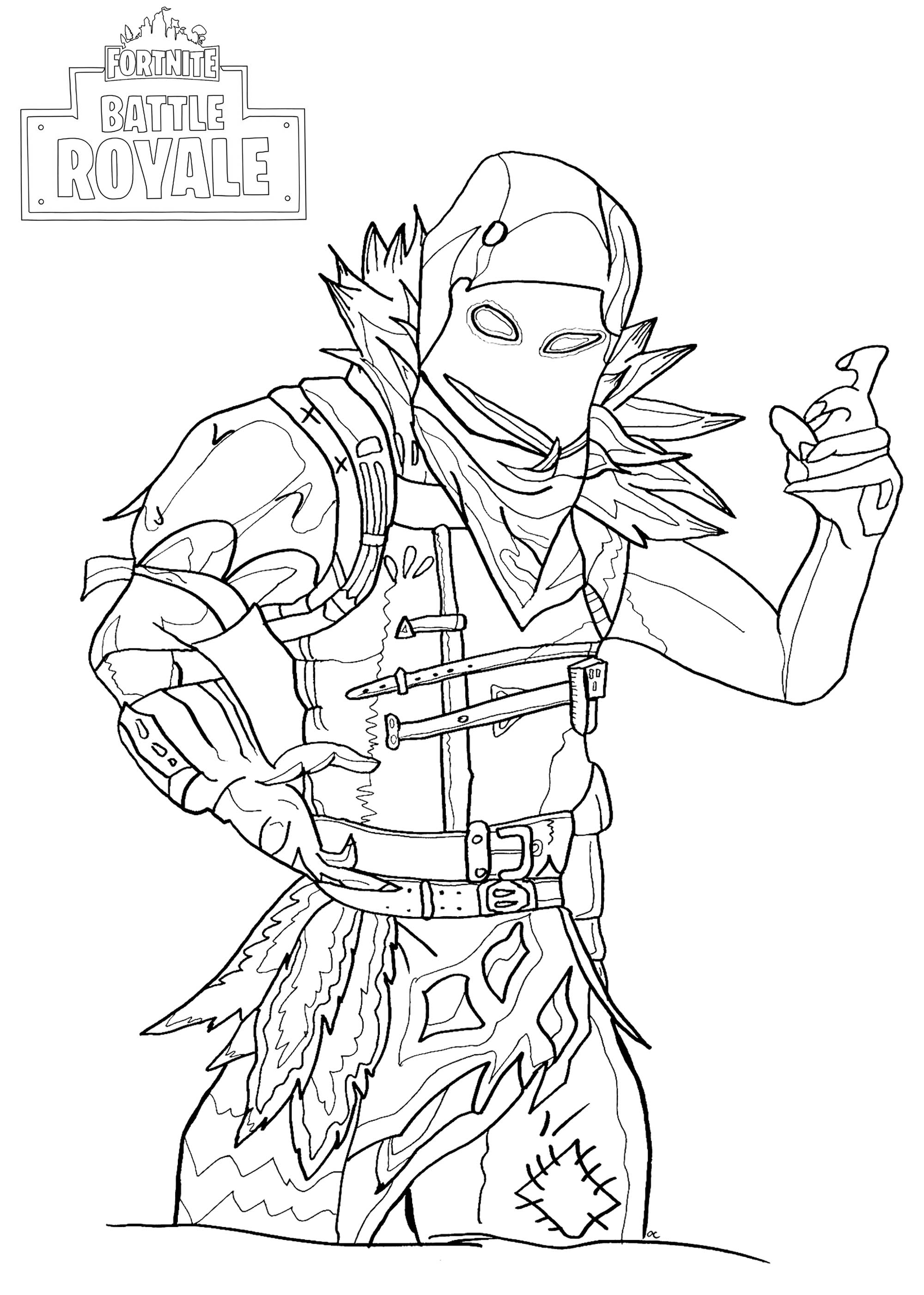 Coloriage fortnite personnage