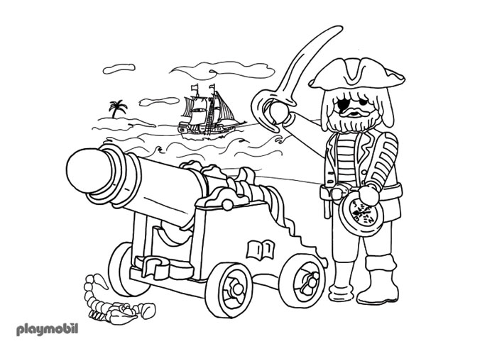 Coloriage playmobil foot
