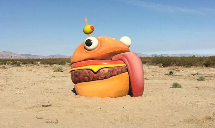 Burger in fortnite map