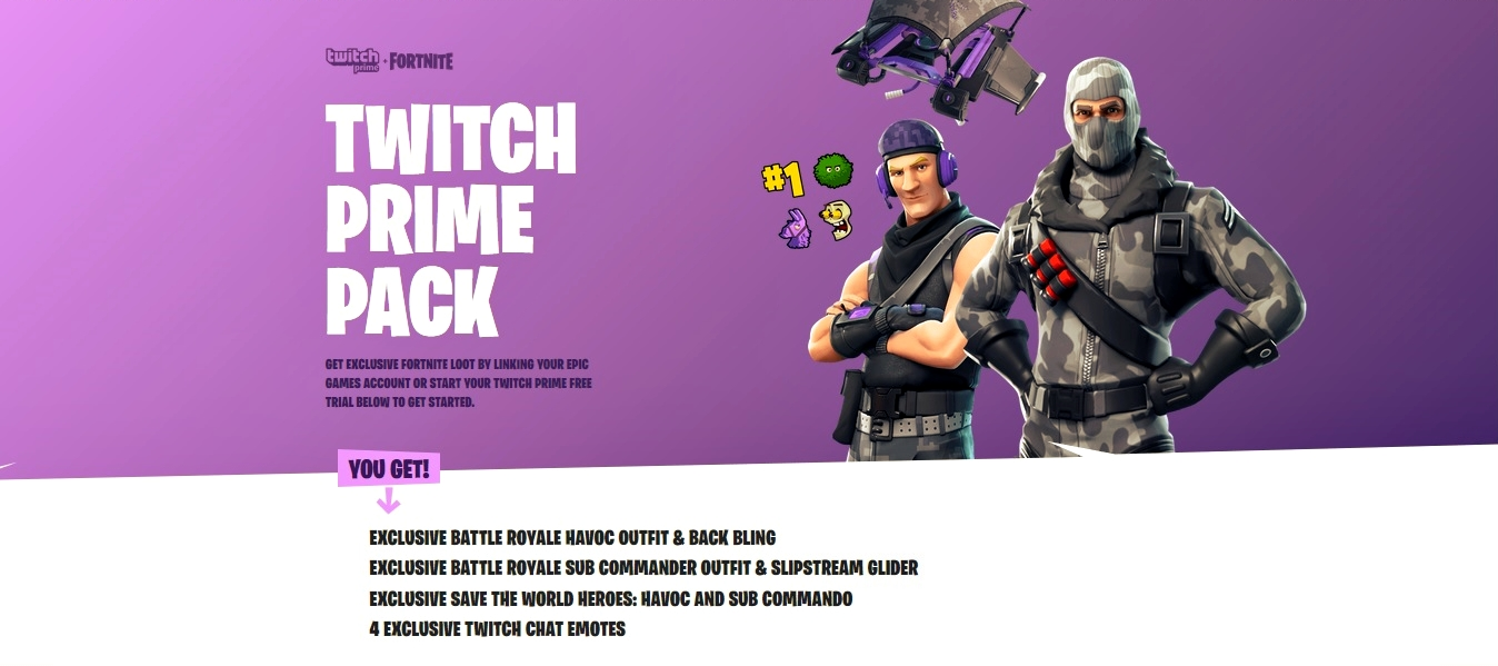 Fortnite outfits with amazon prime