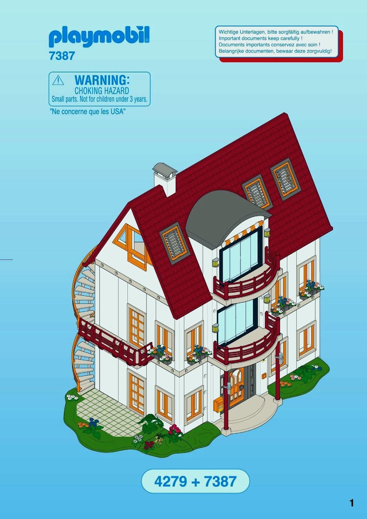 Maison moderne playmobil avec extension