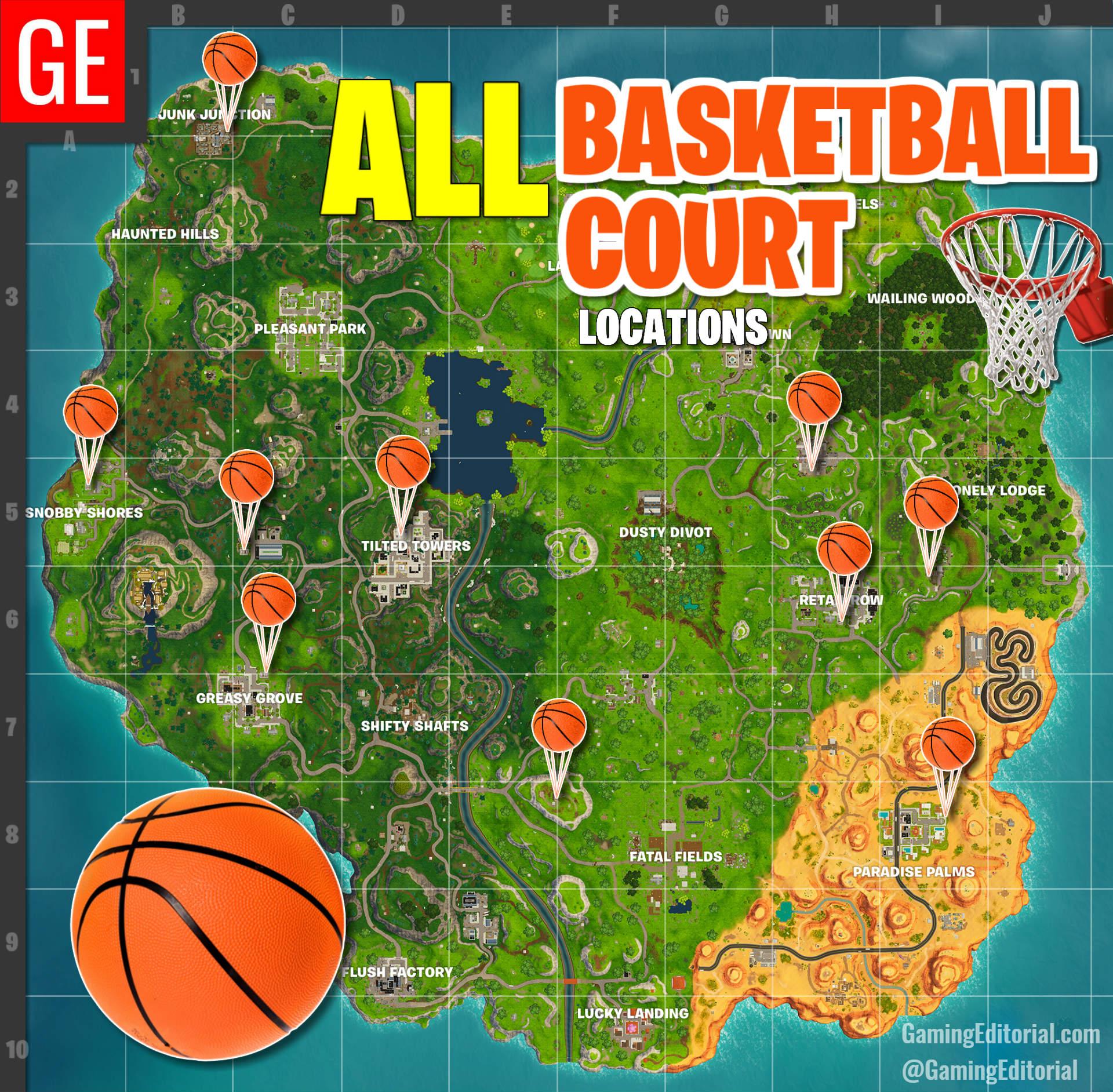 All basketball hoops fortnite
