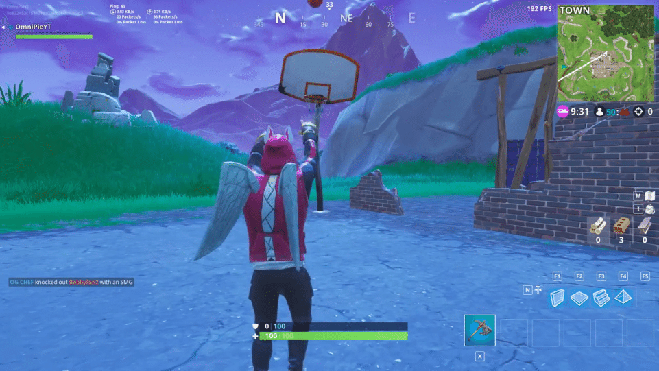 Fortnite basket hoops location