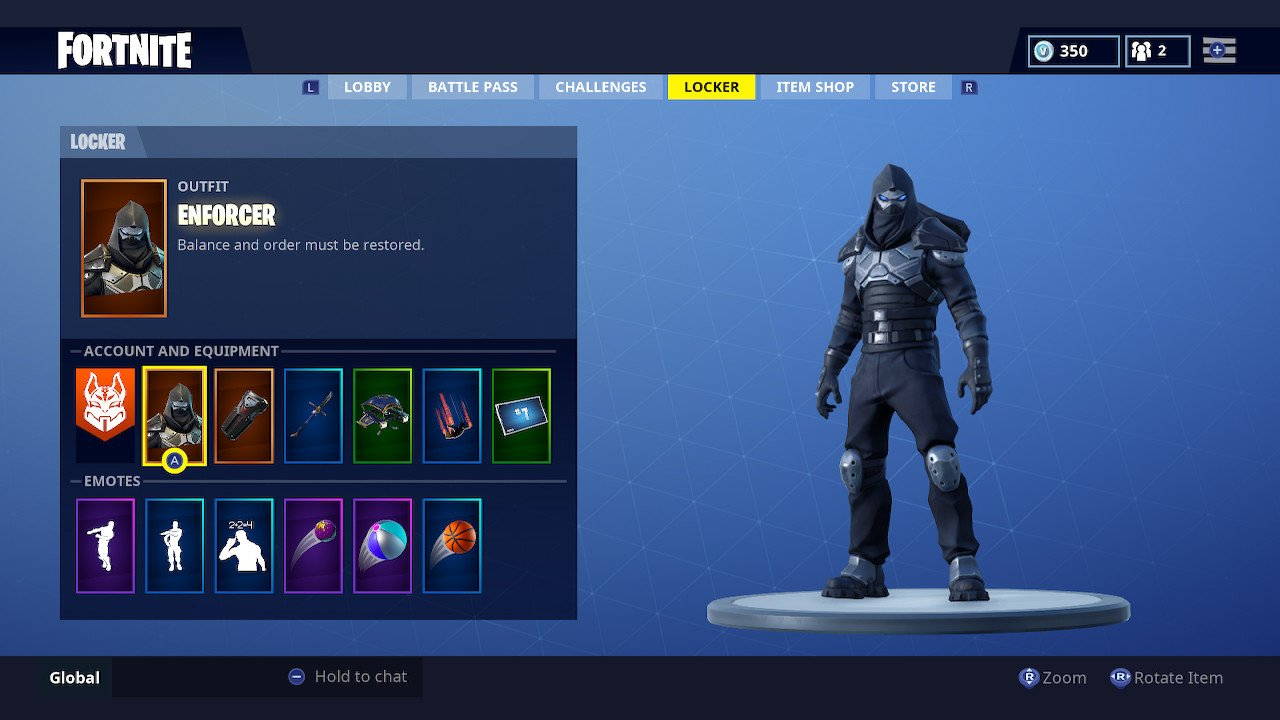 Fortnite skin enforcer
