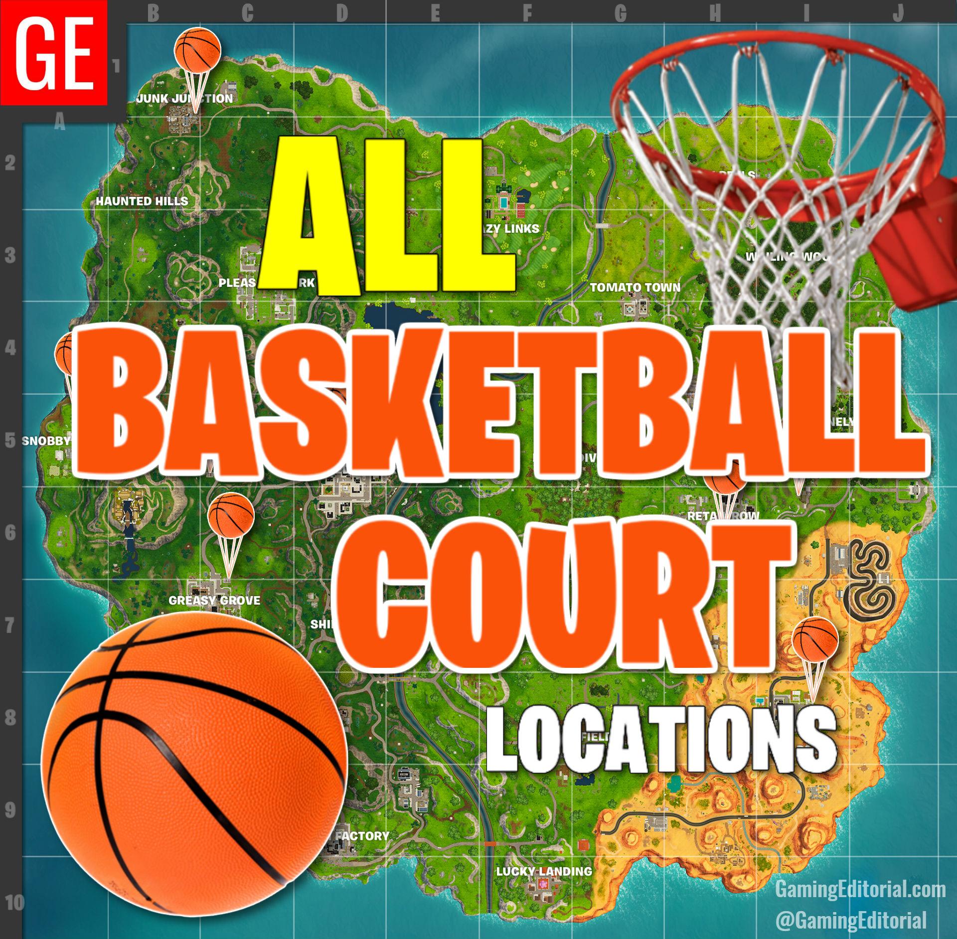 Fortnite all basketball locations