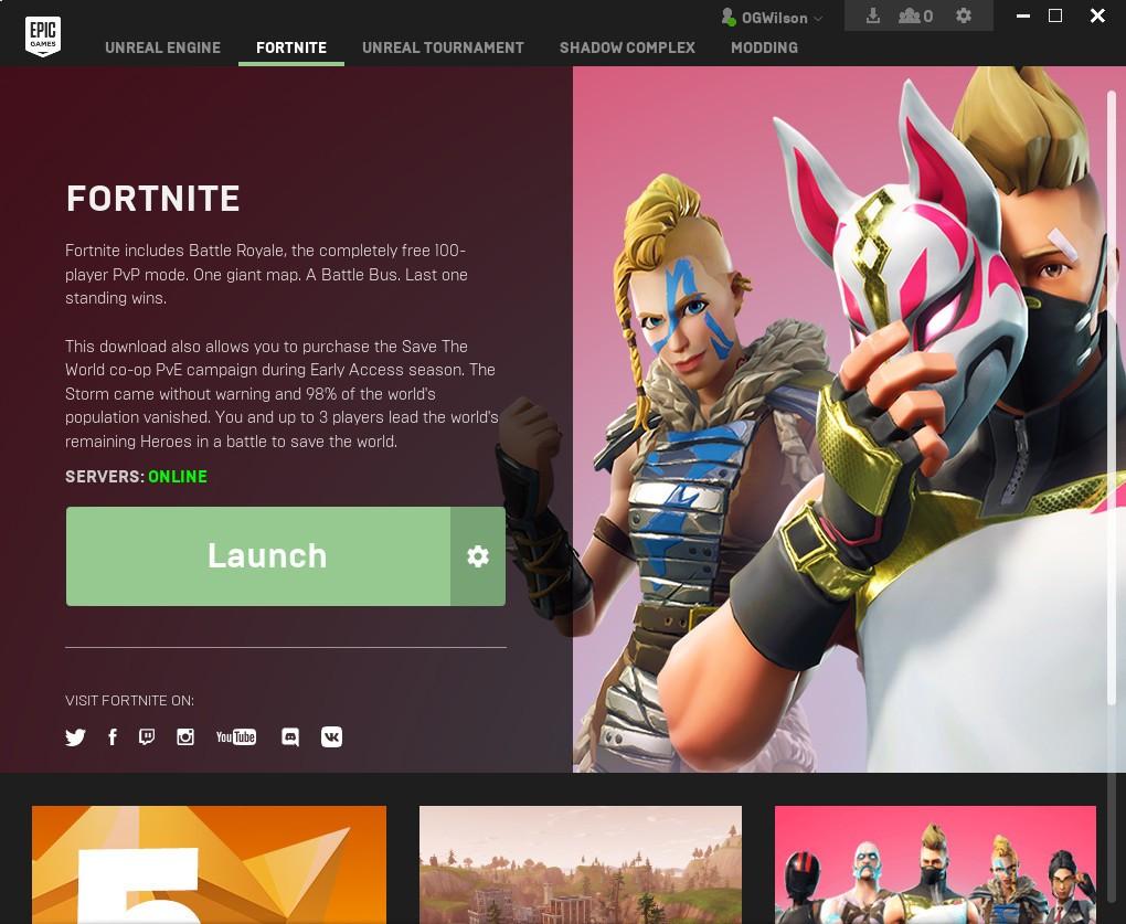 Fortnite creat an account