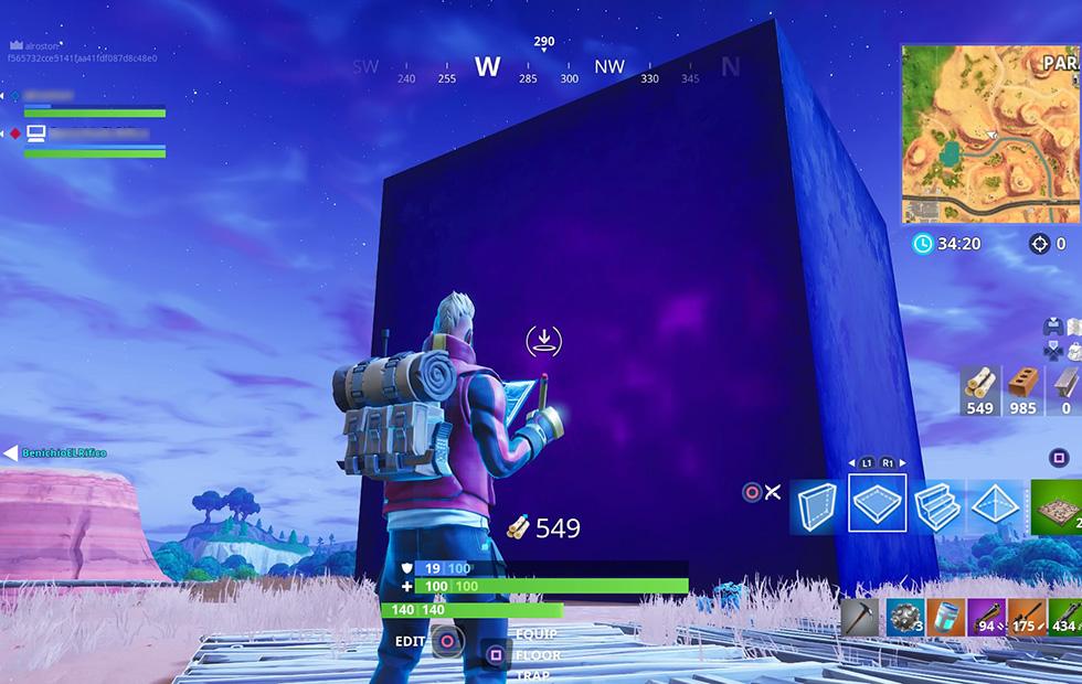 Fortnite cube killed me