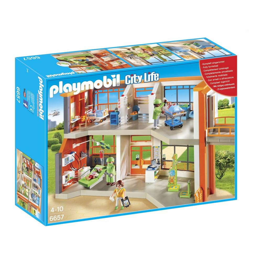 Playmobil hopital pediatrique amenage