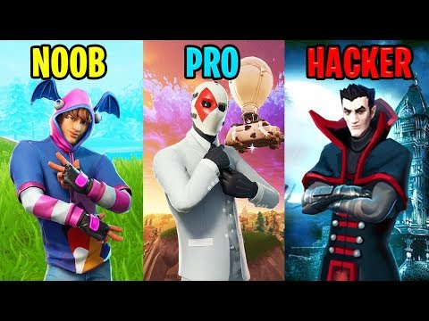 Fortnite funny moments noob vs pro vs hacker
