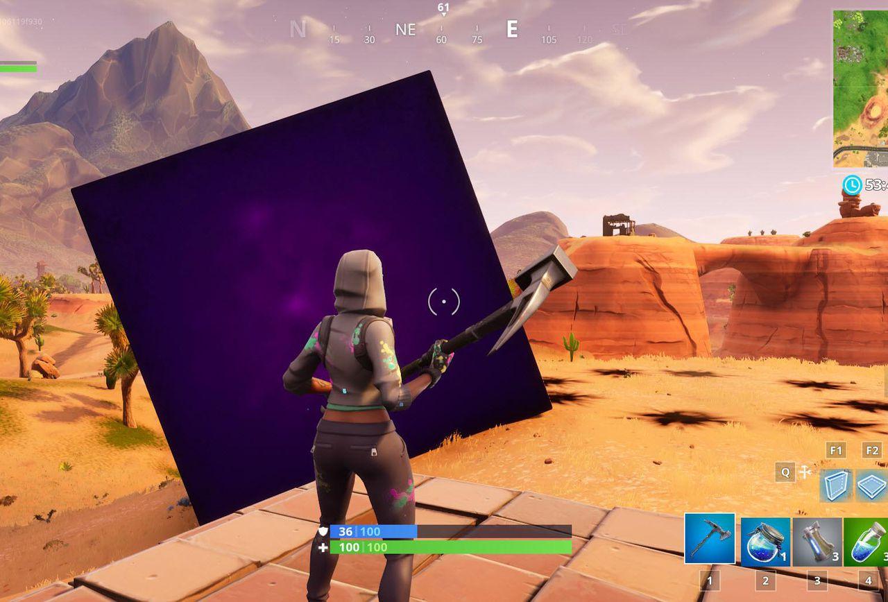 Fortnite cube rolling