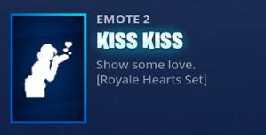 Fortnite emote kiss kiss