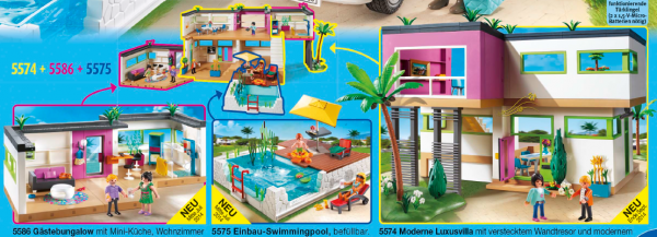 Playmobil piscine maison moderne