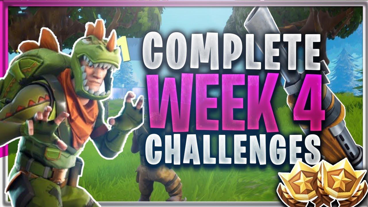 Fortnite br week 4 challenges