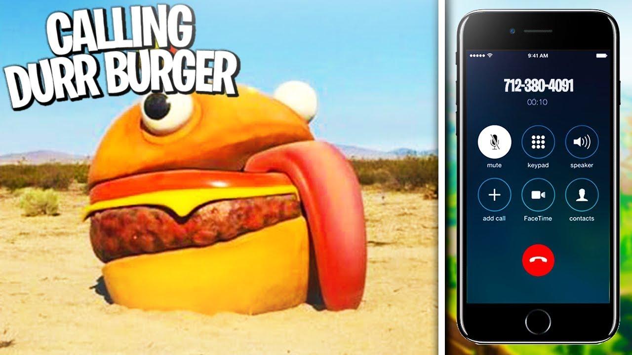 Fortnite burger phone number