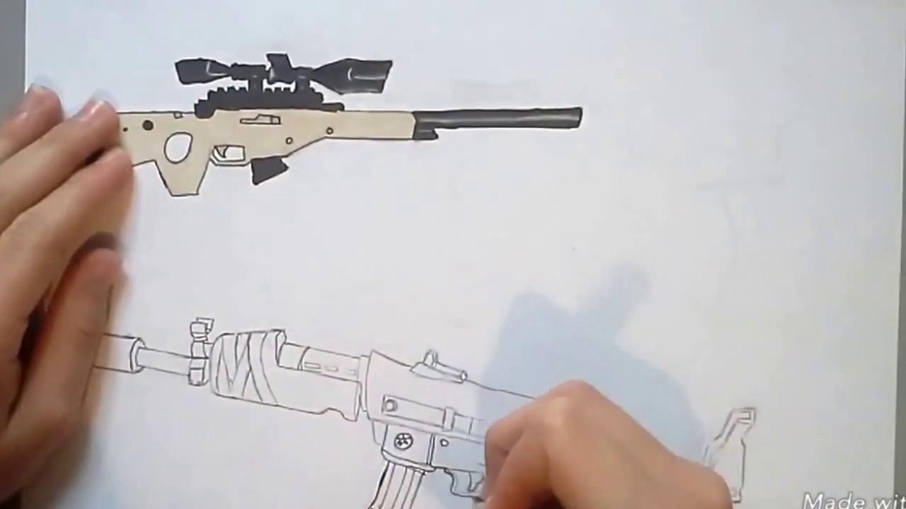 Dessin Fortnite Fusil