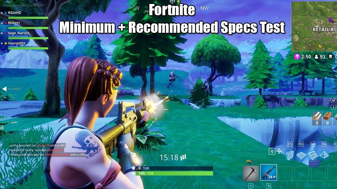 Fortnite epic specs