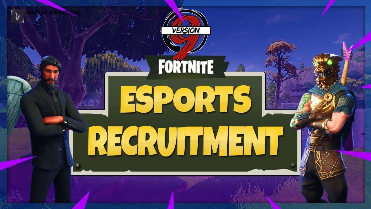 Fortnite esports team recruitment