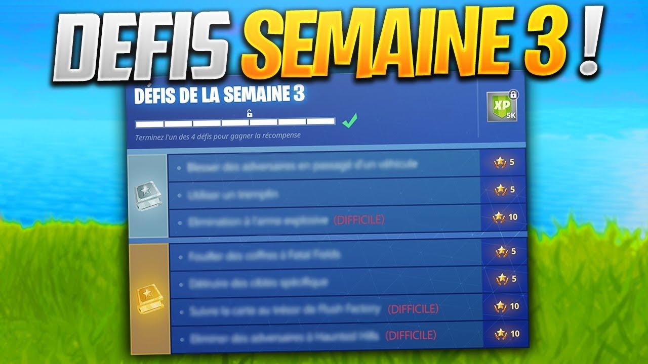 Fortnite saison 5 defi