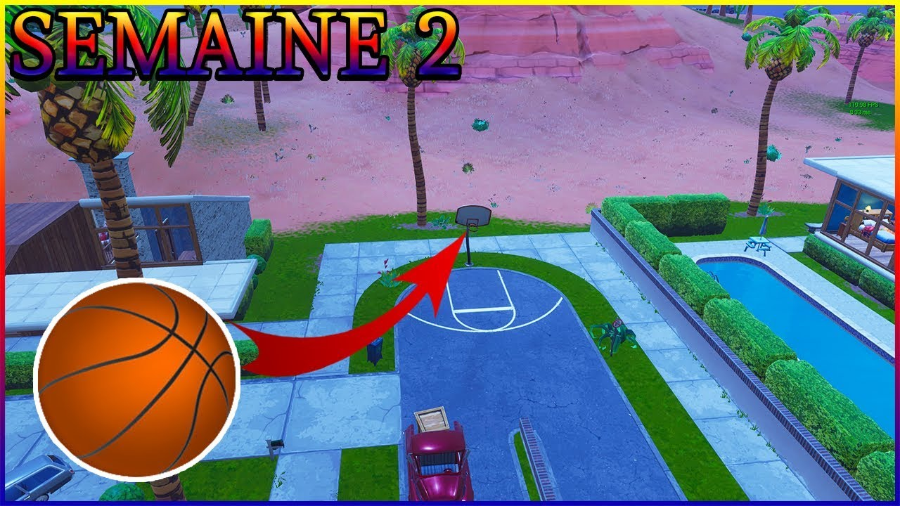Fortnite saison 5 ballon de basket