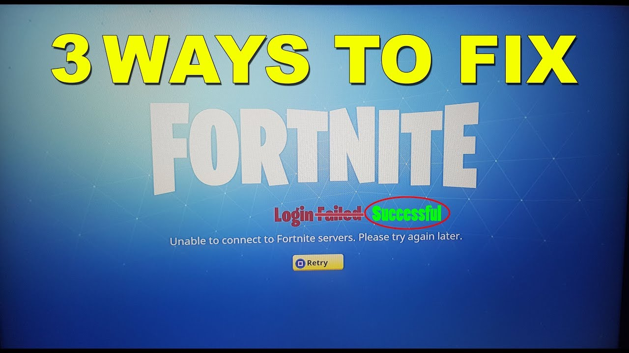 Fortnite network failure when attempting to check platform restrictions pc