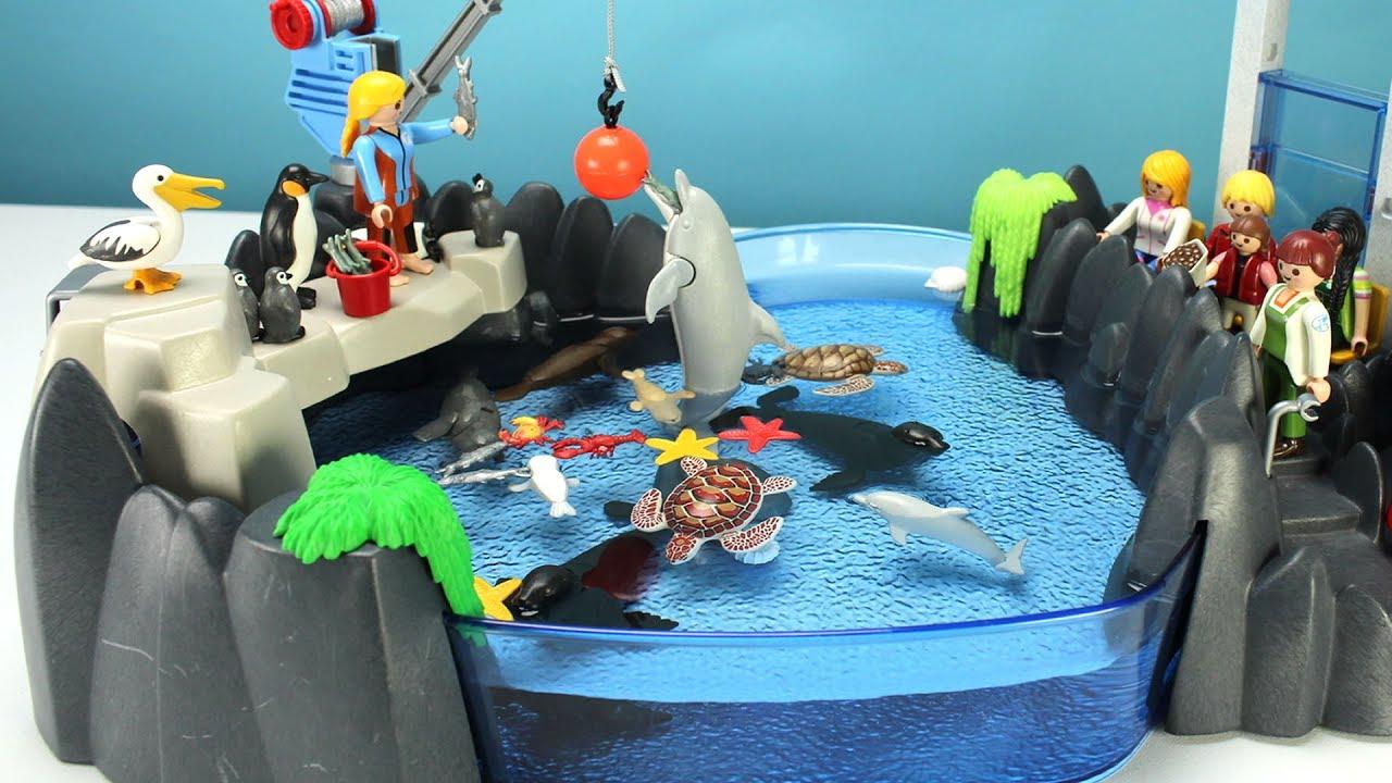Aquarium playmobil pieuvre