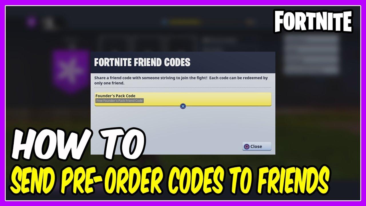 Fortnite ps4 founder's pack code